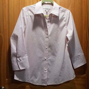 Foxcroft Non-Iron Light Pink Dress Shirt, Med